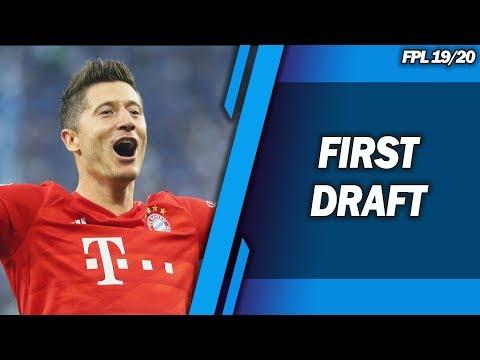 FIRST DRAFT! TIPS & STRATEGIES! - CHAMPIONS LEAGUE FANTASY FOOTBALL 2019/2020!