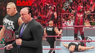 WWE 2K19 WWE Champ AJ Styles Attacks the Universal Champ Brock Lesnar (Custom Scenario RAW 11/12/18)