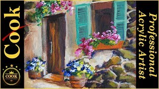 Tucson Window Box Acrylic Painting Tutorial for Beginner and Advanced Artists with Ginger Cook