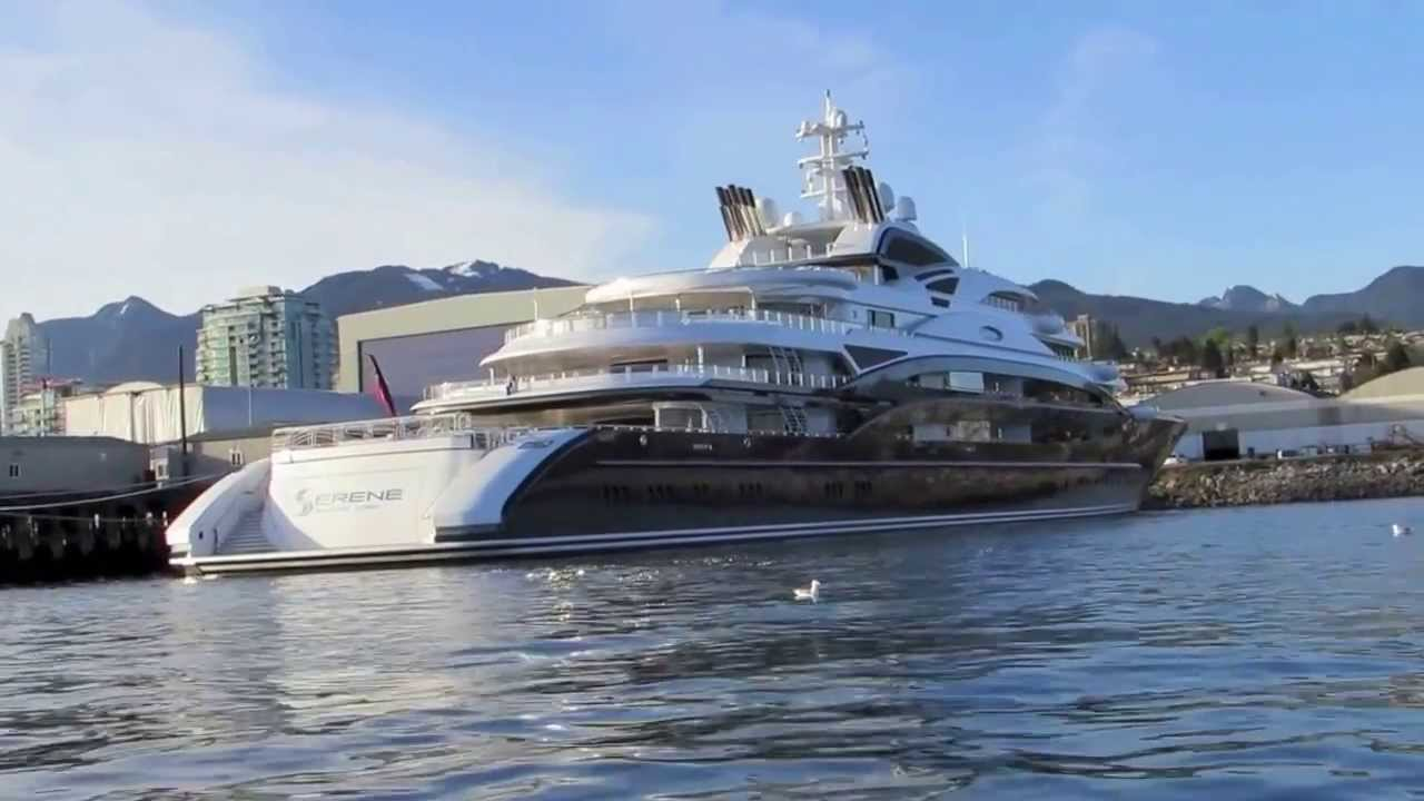 Serene The Super Yacht In Vancouver Youtube