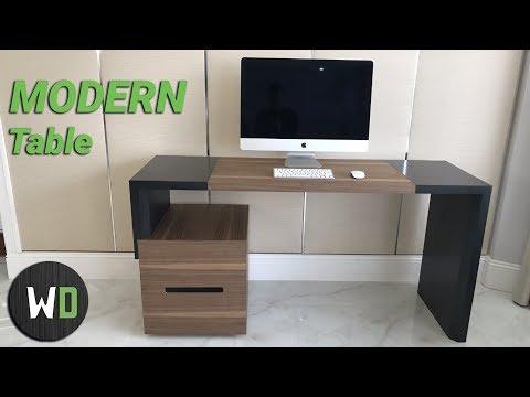 How To Make A Modern Desk | Как сделать Компьютерный стол