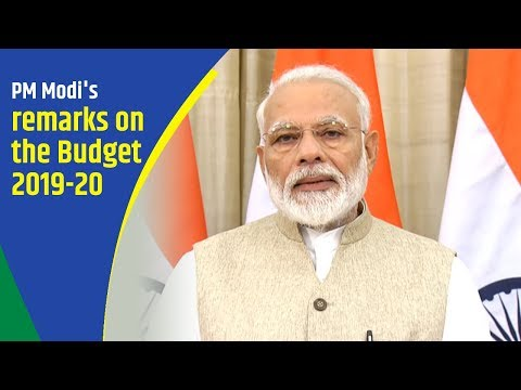 PM Modi's remarks on the Budget 2019-20
