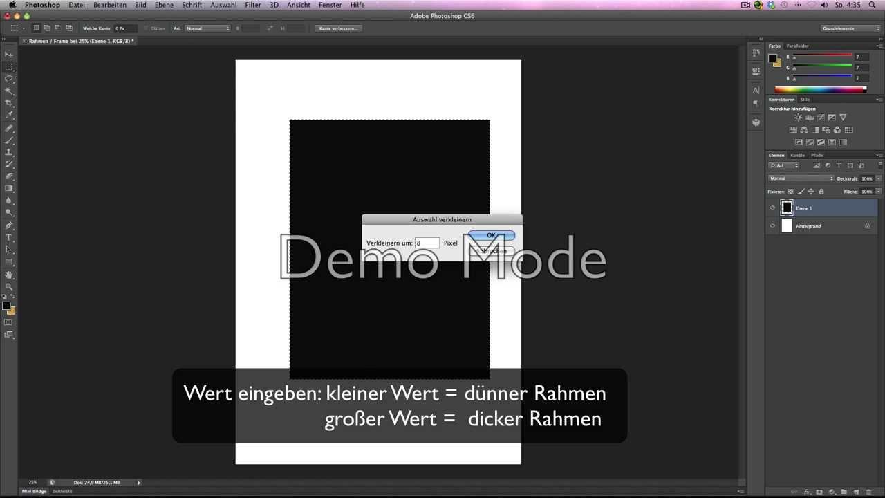 Photoshop CS6 - einen eigenen Rahmen erstellen - YouTube