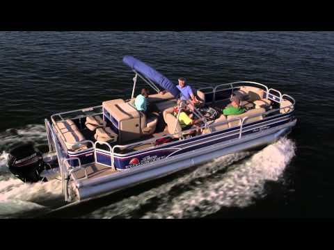 SUN TRACKER Boats 2015 FISHIN' BARGE 24 DLX and XP3 Pontoon Fishing Boats