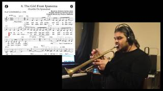 Trumpet tutorial - The Girl from Ipanema - Jobim How to play theme