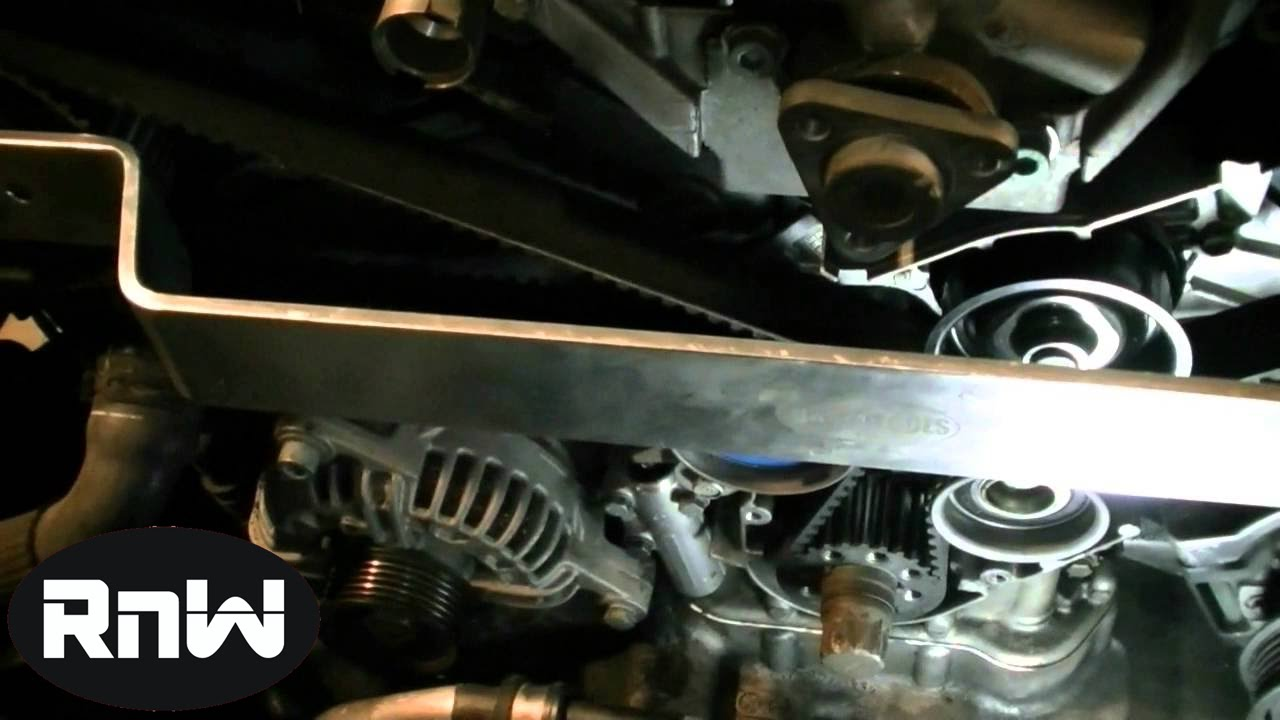 how to replace the timing belt on a vw passat audi a4 a6 2 8l engine part 3