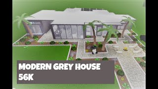 Roblox | Bloxburg | Modern Grey House Tour | 56k