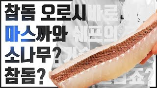 생선회 손질 도미편 참돔회뜨는법 오로시 마스까와  how to make sashimi