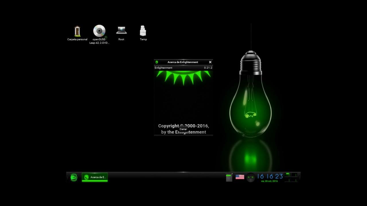 Instalación De Opensuse Leap 42 2 Rc 1 Con Enlightenment Desktop