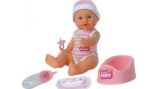 Кукла New Born Baby Беби Бон кушает,писает,купается,пьет.Ухаживаем за пупсом КАК МАМА. Для девочек.
