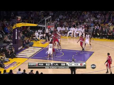 Blazers -at- Lakers - 4/11/10 - HD Highlights