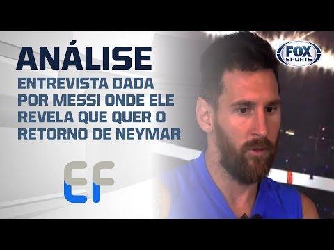 """MESSI REVELA DESEJO DE JOGAR NOVAMENTE COM NEYMAR! Assunto é tema no """"Expediente Futebol"""""""