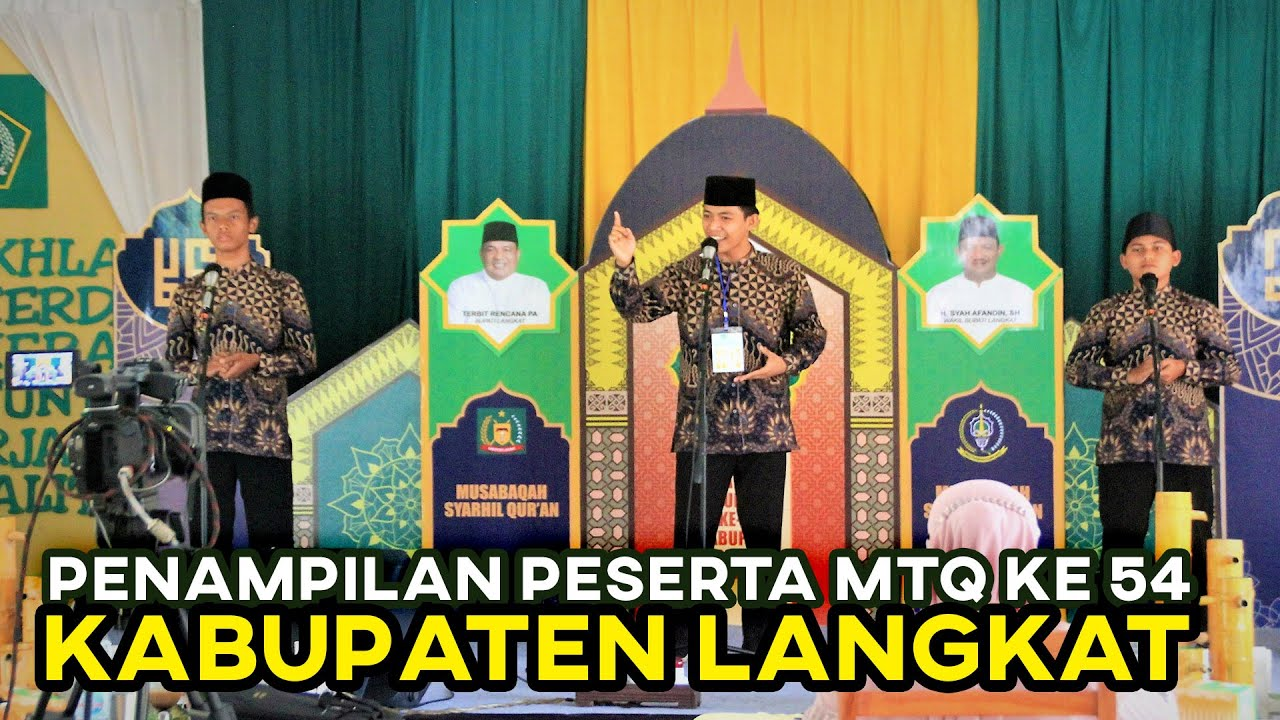 Penampilan Peserta MTQ ke 54 Kabupaten LANGKAT Tahun 2021 | MUSABAQAH TILAWAH REMAJA DAN DEWASA