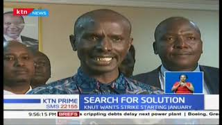 Search for solutions : KNUT wants to start strike on Jan