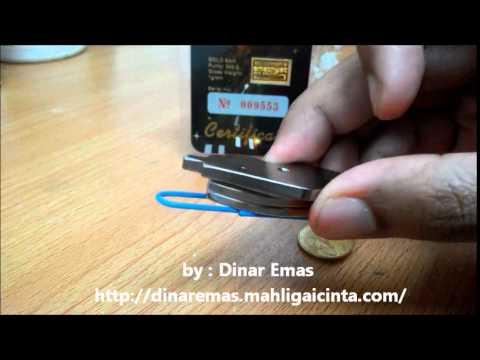 Emas (gold) magnet test
