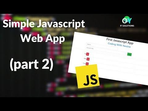 Coding with Yassine - Make a Simple JavaScript Web App 2019 ( Part 2 ) thumbnail