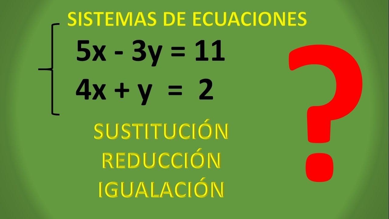 Sistemas De Ecuaciones Los 3 Métodos Explicados Youtube