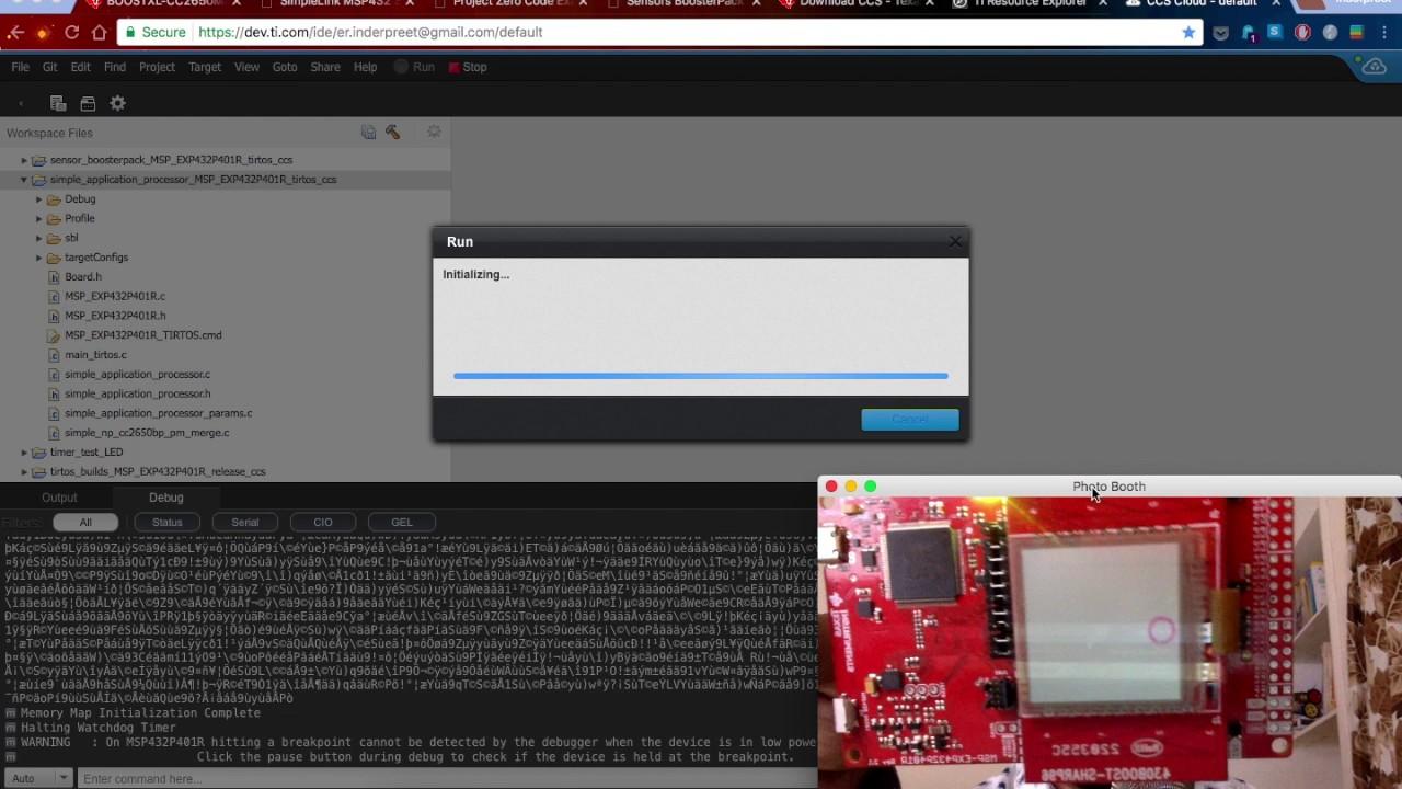 Safe & Sound Update VLOG TI Code Composer Studio Cloud and MSP432