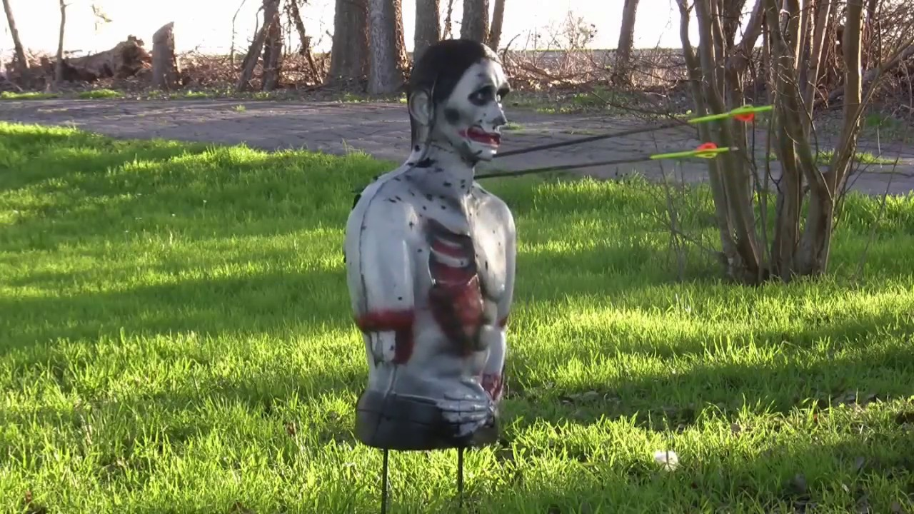 undead fred zombie 3d target review youtube