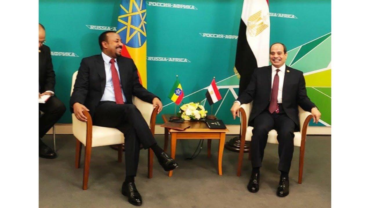 السيسي ورئيس وزراء إثيوبيا .. مشهد مؤسف لا يتناسب مع الموقف وكأنها مؤامرة!  - YouTube