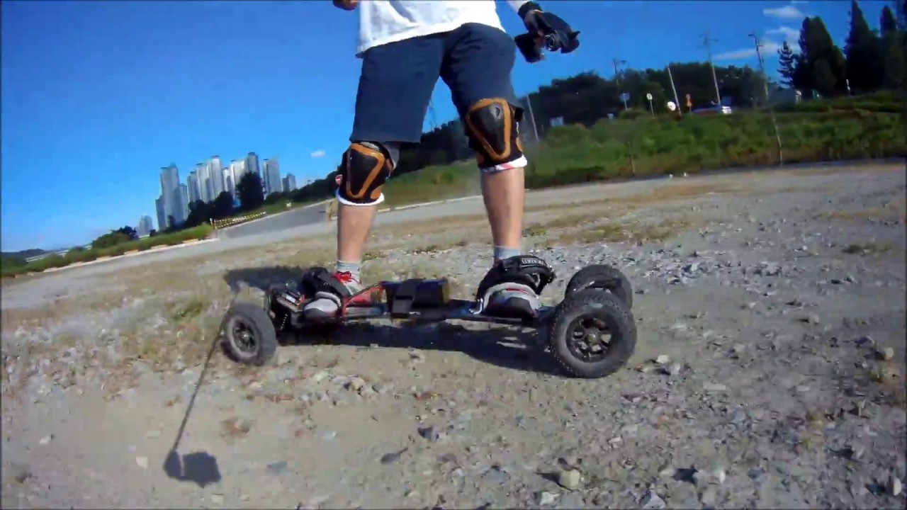 Electric Mountain board Quark 5.0 Direct Drive Test Riding
