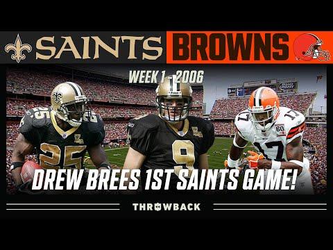 Drew Brees FIRST Saints Game! (Saints Vs. Browns 2006, Week 1)