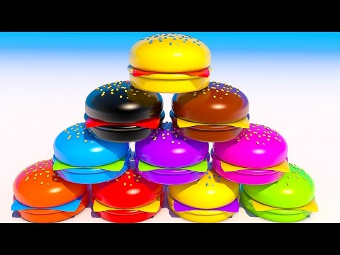 Thumbnail: Teach Colors with Hamburgers Learning for Kids and Children