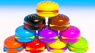 Teach Colors with Hamburgers Learning for Kids and Children