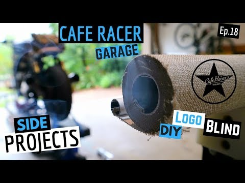Cafe Racer ★ Garage Side Project - How to Cut Roller Blinds to Size -Ep 18