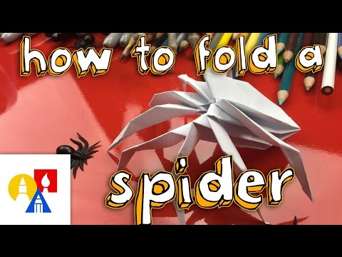 How To Fold The Coolest Origami Spider Ever!