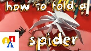 How To Fold Tнe Coolest Origami Spider Ever!