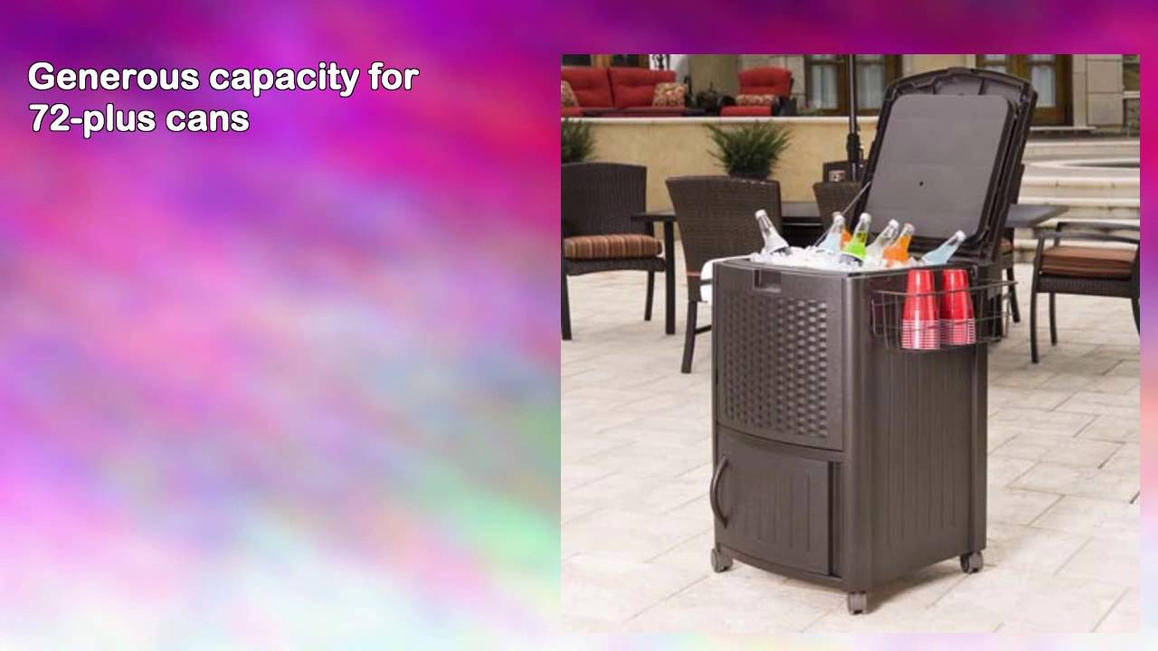 Exceptional Suncast DCCW3000 Resin Wicker Cooler