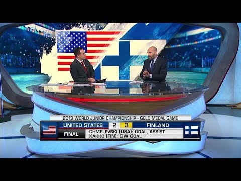 NHL Tonight:  WJC Team USA loses to Finland, 3 - 2, in Gold - medal game  Jan 5,  2019