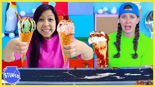 Conveyor Belt CHALLENGE! How to Make ICE CREAM!