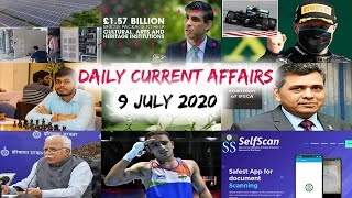 09 July 2020 Current Affairs | Daily Current Affairs | Current Affairs In English