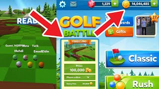 GOLF BATTLE - GETTING BETTER IN PINE FOREST PRO AND 14 MILLIONS COINS