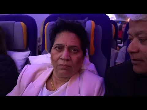 Aruna & Hari Sharma about to land Buenos Aires EZE from Frankfurt after 13 h Flight, Sep 23, 2017