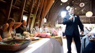 Father of the Bride Toast (by Greg Medic) at Billy & Shannon's Wedding