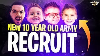 NEW 10 YEAR OLD ARMY RECRUIT! HE MET CONNOR AND WUBBLEKINS! (Fortnite: Battle Royale)