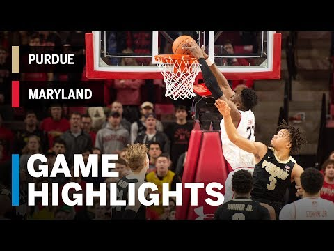 Highlights: Purdue at Maryland | Big Ten Basketball