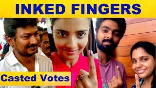 Udhayanidhi, G. V. Prakash and Aishwarya Rajesh Casted their Votes | Lok Sabha Elections 2019