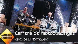 Marc Márquez y Pablo Motos se retan a una carrera con las 'motocuádrigas' de 'El Hormiguero 3.0'
