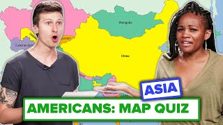 Americans Try To Label A Map of Asia