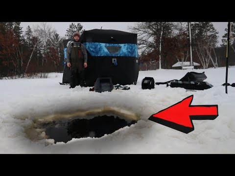What NOT To Do WHILE Darkhouse Spearing! (BAD LUCK)