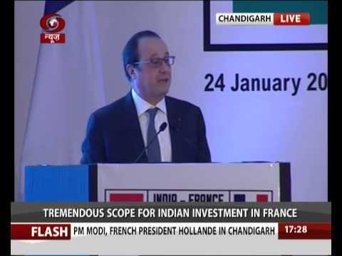 PM Modi and France Prez at India France Business Summit