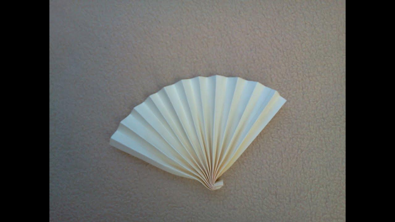 Diy easy paper fan c mo hacer un abanico sencillo de - Como hacer un abanico ...