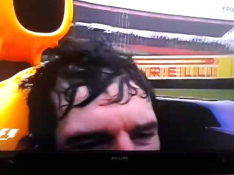 Mark Webber final lap in an F1 car
