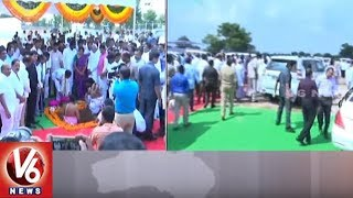 CM KCR Lays Foundation Stone For Development Works In Siddipet District | V6 News