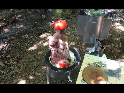"""Tenekede Tavuk Aparatında""""Kuzu Kol 🍖 Yaptık. Kamp Videosu!"""