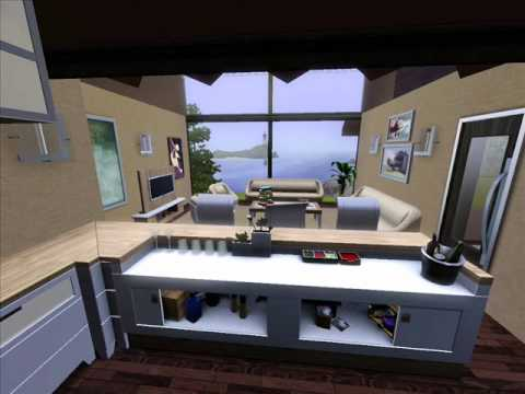 The sims 3 Modern small House Design - YouTube